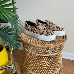 Qupid Animal Print Platform Slip On Sneakers 8